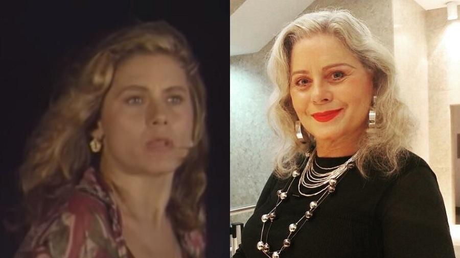 """Vera Fischer em """"Mandala"""", em 1987 e hoje"""