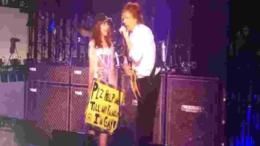 Paul McCartney ajuda menina a dizer à família que é homossexual  - Reprodução/YouTube