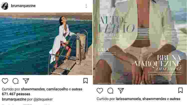 Shawn Mendes curte fotos de Bruna Marquezine - Reprodução/Instagram - Reprodução/Instagram