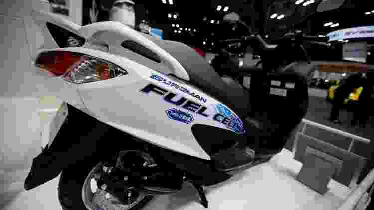 Também uma das anfitriãs japonesas, a Suzuki mostrou um Burgman movido a célula de combustível (hidrogênio) - Toru Hanai/Reuters