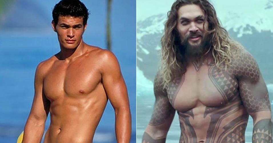 O Aquaman havaiano Jason Momoa já gostava de praia bem antes de se tornar o Rei de Atlântida
