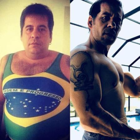 Leandro Hassum compara corpo em 2014 e 2018 - Reprodução/Instagram