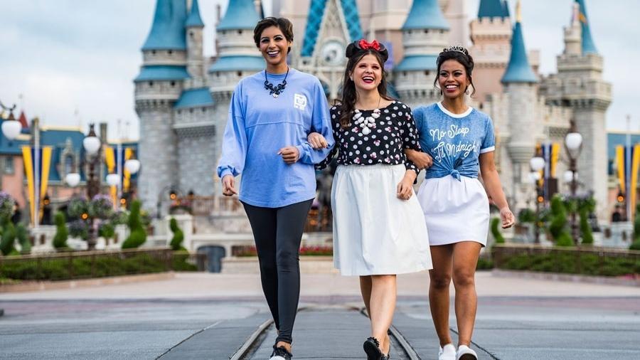 Funcionárias da Disney com makes inspiradas em Úrsula, Minnie Mouse e Cinderella - Divulgação