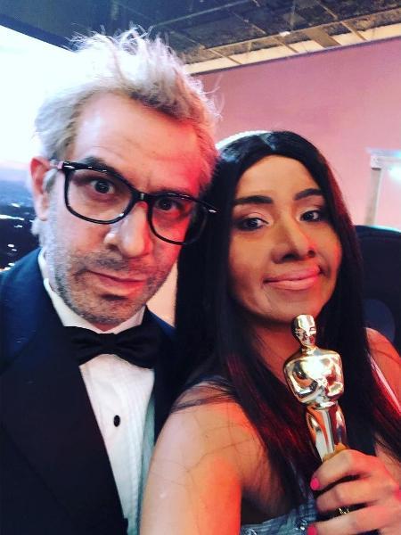 Yeka Rosales (dir.) imita Yalitza Aparício - Reprodução/Instagram