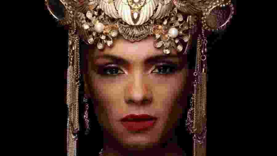 Lid Lisboa interpreta Jezabel, que conta a história da idólatra e ambiciosa princesa fenícia - Reprodução/RecordTV