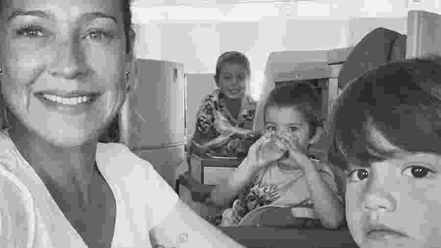 Luana Piovani com os filhos, Dom, Bem e Liz - Reprodução/Instagram