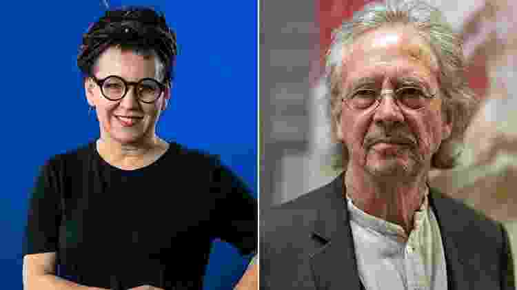 Olga Tokarczuk e Peter Handke, vencedores do Nobel de literatura - Getty Images - Getty Images