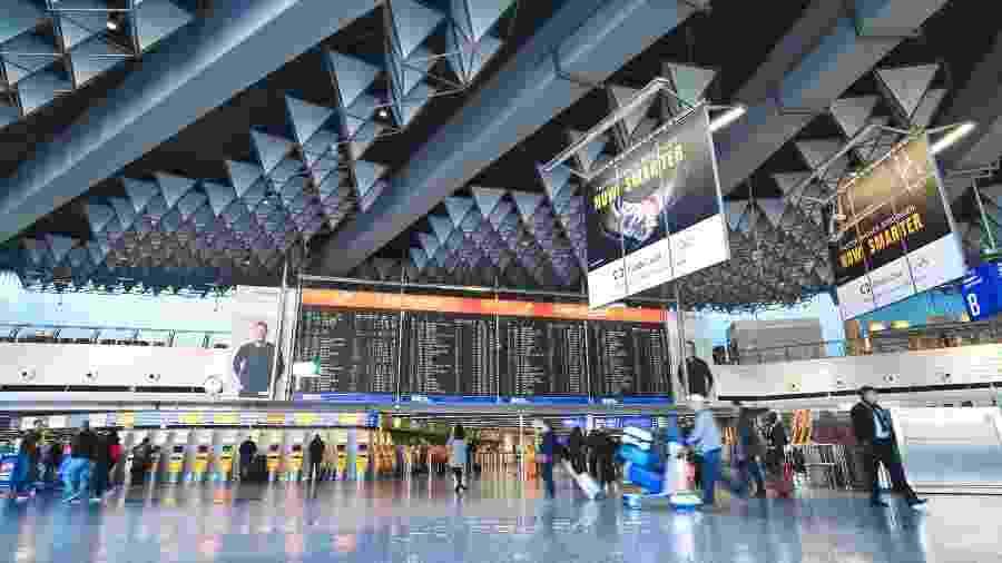 Aeroporto de Frankfurt, na Alemanha, está vazio por conta do coronavírus  - Getty Images