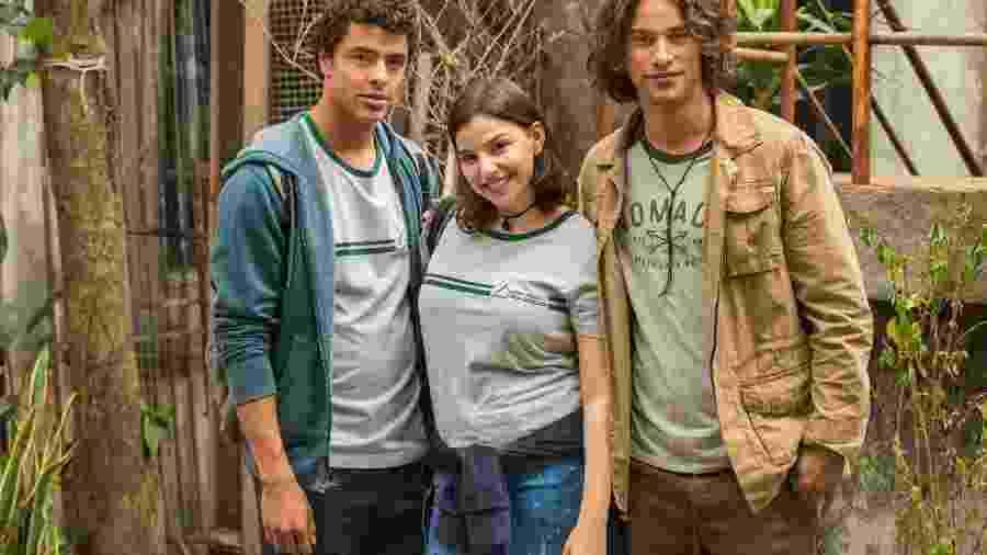 Tato (Matheus Abreu), Keyla (Gabriela Medvedovski) e Deco (Pablo Morais) - Globo/Cesar Alves