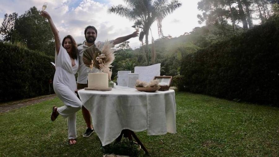 Andressa e Matheus no elopement wedding: casamento mais secreto e intimista apenas para os noivos   - Divulgação