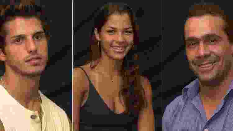 Thaís, Fernando e Rodrigo (BBB2) - Reprodução - Reprodução
