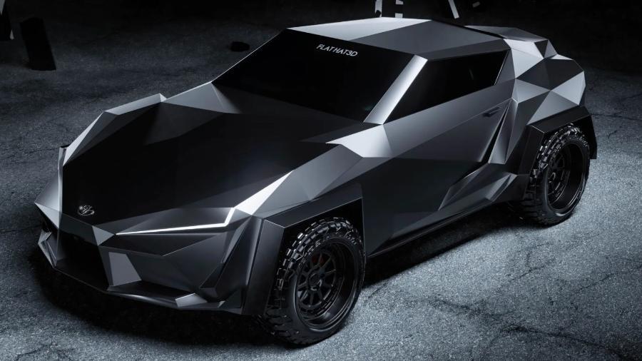 Toyota Supra conceito no estilo ?batmóvel? - Divulgação