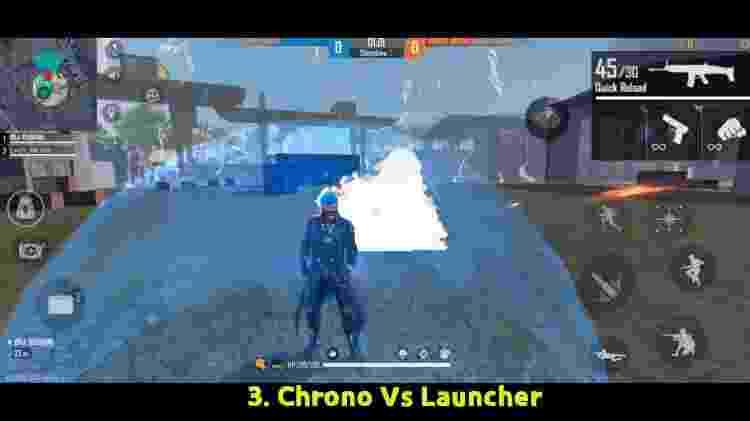 Free Fire Chrono Launcher - Reprodução/Youtube/BrOkEn JoYsTiCk - Reprodução/Youtube/BrOkEn JoYsTiCk