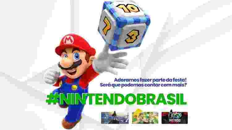 Nintendo Brasil Campanha - Divulgação/QueremosNintendo.com.br - Divulgação/QueremosNintendo.com.br