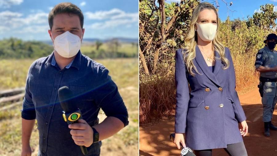 Os repórteres Felipe Garraffa, da Band, e Vanessa Vitória, do SBT, trabalharam na cobertura do caso Lázaro - Divulgação