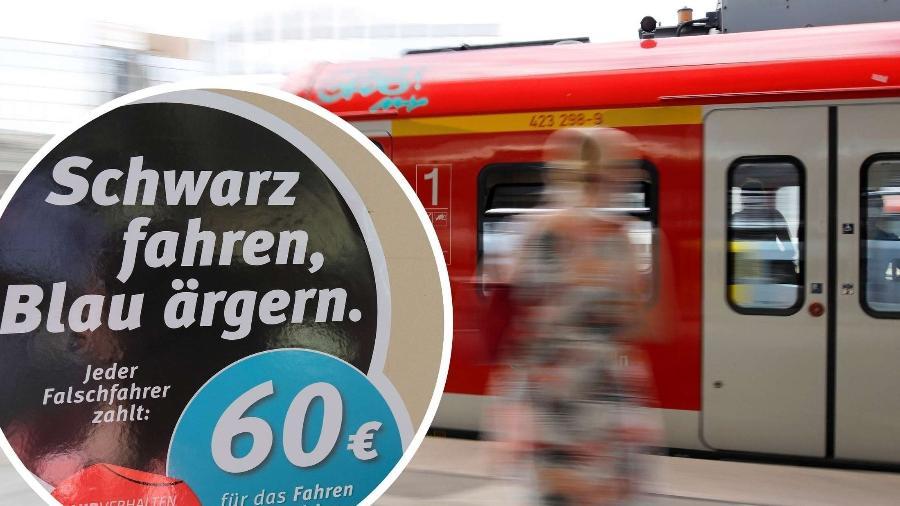 """Em alemão, """"Schwarzfahren"""" se refere ao uso de um transporte público sem pagar passagem cobrada - Jens Wolf/picture alliance/dpa & Future Image/IMAGO"""