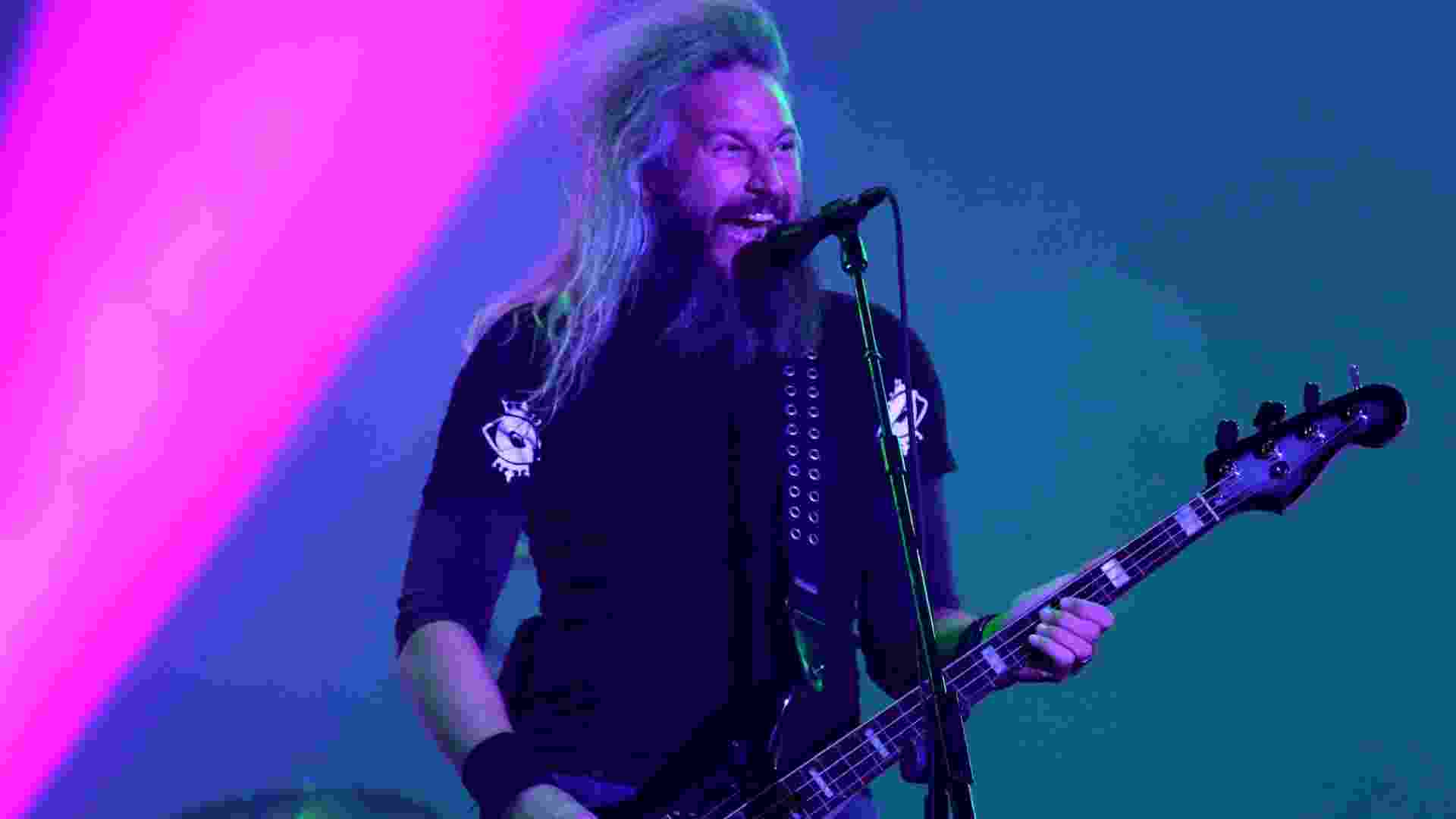 25.set.2015 - A banda americana Mastodon, representando o new wave heavy metal, se apresenta no palco Mundo, durante o quinto dia do festival Rock in Rio 2015. - Fernando Maia/UOL