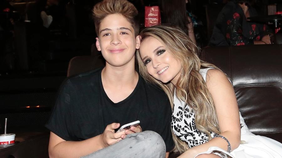 Larissa Manoela e João Guilherme em novembro, quando ainda estavam juntos - Rafael Cusato/Brazil News