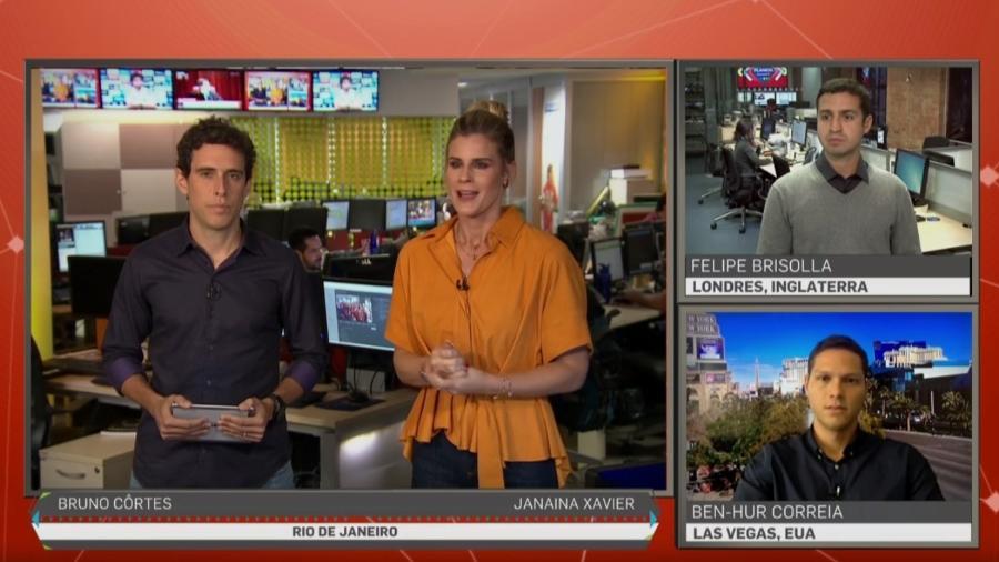 """""""Planeta SporTV"""", da Janaína Xavier, tem participação de correspondentes no exterior - Reprodução/SporTV"""