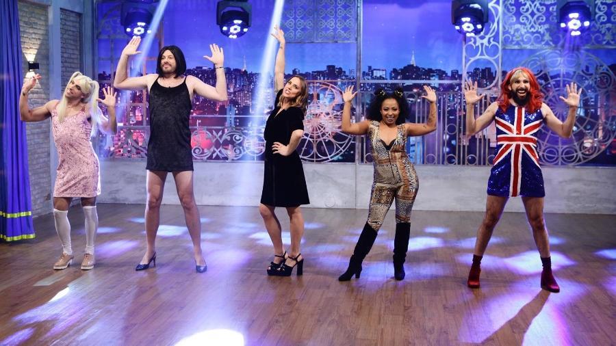 """Mel C revive os tempos de Spice Girls ao lado do elenco do """"The Noite"""" - Gabriel Cardoso/Divulgação"""