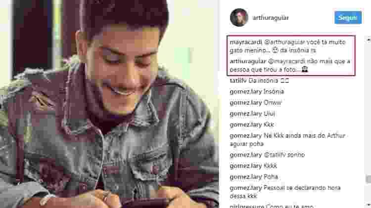 Arthur Aguiar e Mayra Cardi trocam declarações no Instagram - Reprodução/Instagram - Reprodução/Instagram