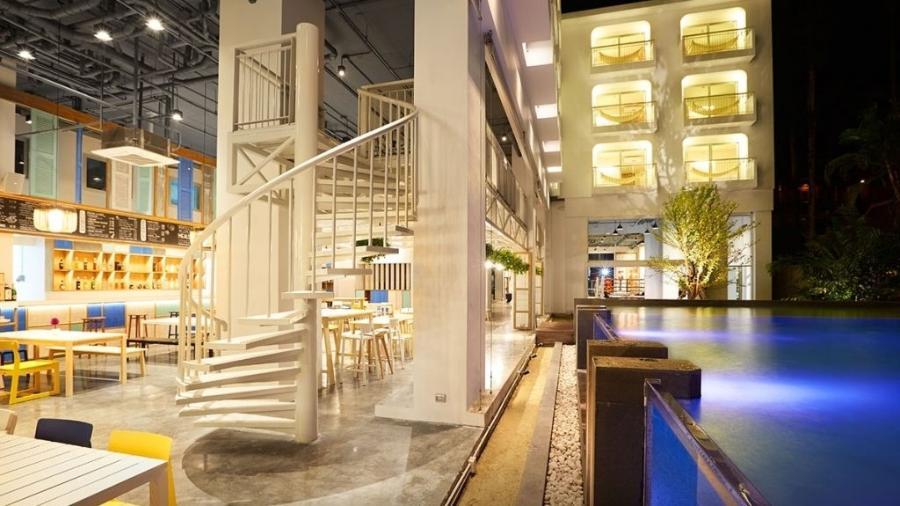 Parece um resort, mas este hostel é o Lub d Phuket Patong, na Tailândia, com diárias a partir de R$ 36. - Divulgação/Hostelworld