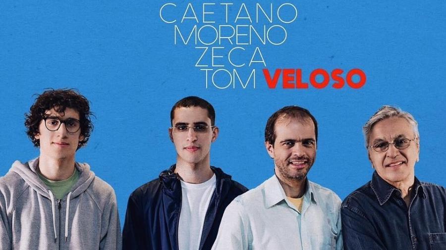 Caetano Veloso sai em turnê com os filhos - Divulgação