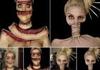 Artista leva até 12h para criar ilusões de óptica incríveis em seu rosto - Reprodução/Ines Kus
