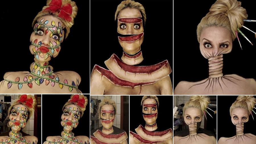 Ines Kus é uma croata que arrasa no quesito pintura facial - Reprodução/Ines Kus
