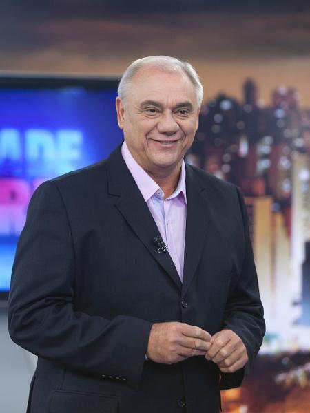 """Marcelo Rezende no """"Cidade Alerta"""" - Edu Moraes/Record"""