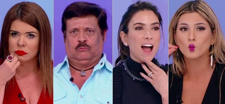 Mara Maravilha, Carlinhos Aguiar, Patricia Abravanel e Lívia Andrade - Montagem/Reprodução/SBT