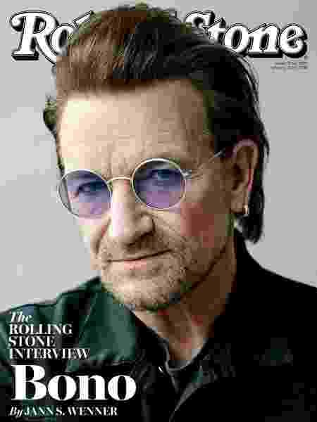 Bono Vox na capa da Rolling Stones - Reprodução - Reprodução