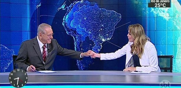 """Rachel Sheherazade se despede de Joseval Peixoto no """"SBT Brasil"""""""