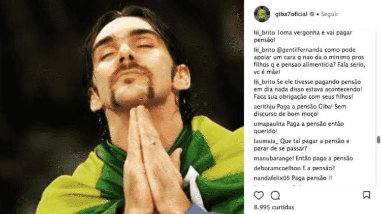 O apoio da jornalista Fernanda Gentil a Giba também foi colocado em xeque - Reprodução/Instagram - Reprodução/Instagram