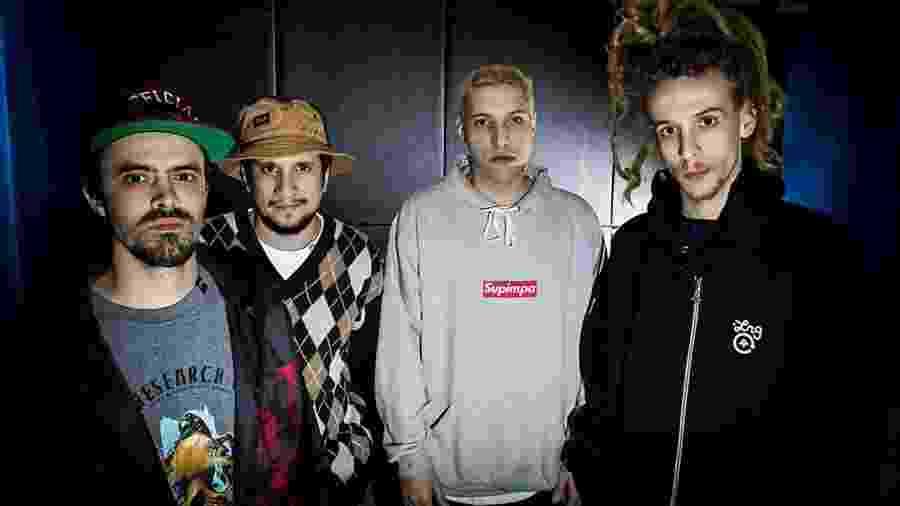 O grupo Haikaiss: DJ Sleep, SPVic, Spinardi e Pedro Qualy - Bruno Santos/Folhapress