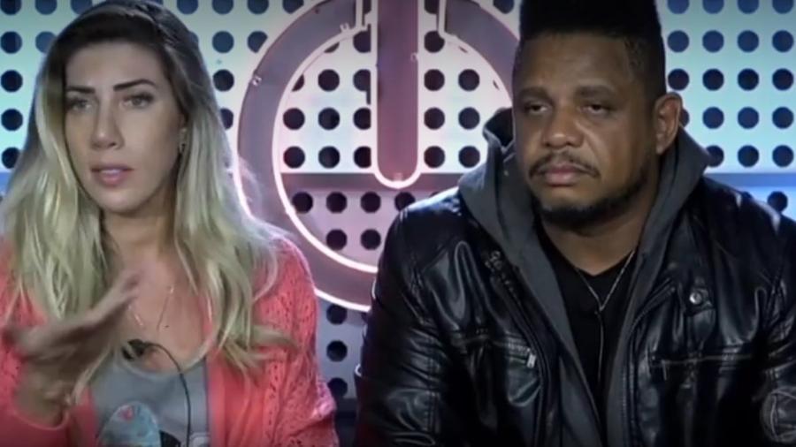"Tati Minerato e Marcelo brigam no ""Power Couple Brasil"" - Reprodução/Record"
