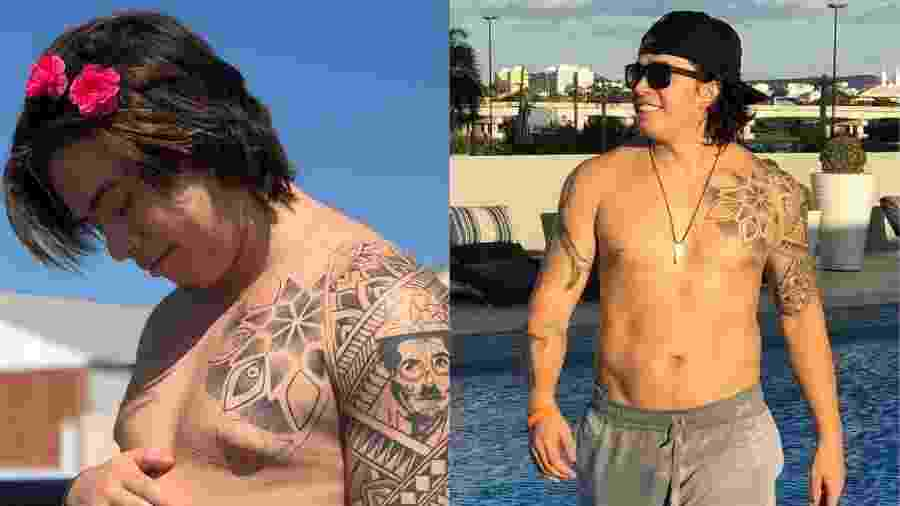 Whindersson Nunes perdeu peso após começar a fazer exercícios - Montagem/UOL