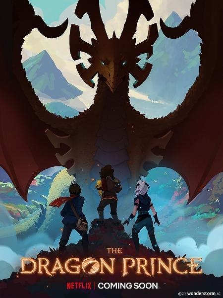 """Pôster de """"O Príncipe Dragão"""", nova animação da Netflix - Divulgação"""