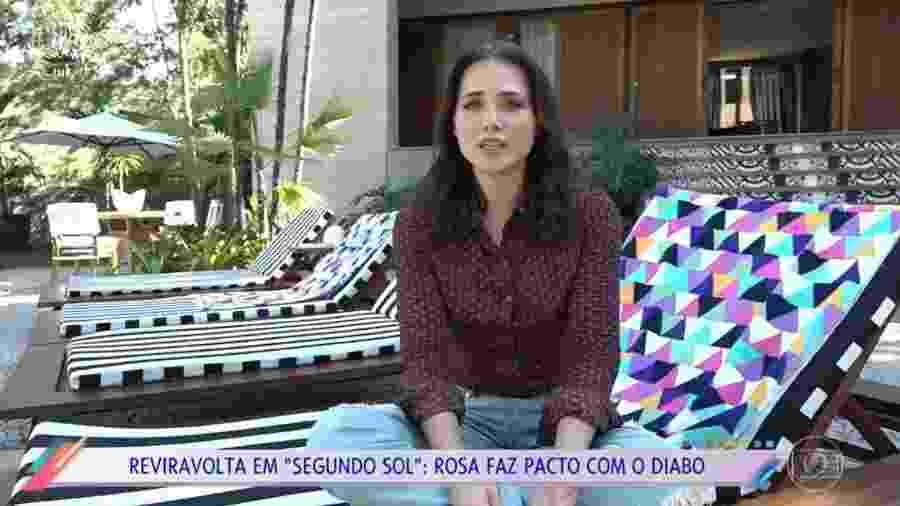 """Letícia Colin em entrevista ao """"Vídeo Show"""" - Reprodução/Globo"""