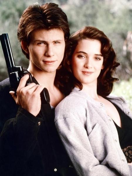 """Winona Ryder e Christian Slater em """"Atração Mortal"""" (1988) - Reprodução"""
