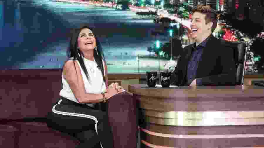 Gretchen no programa do Porchat - Marcus Godoy/Record TV/Divulgação