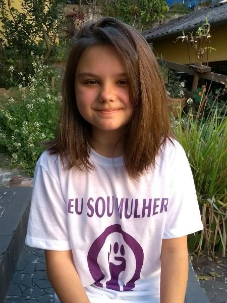 Teresa tem 12 anos e luta pelo fim do machismo - Arquivo Pessoal