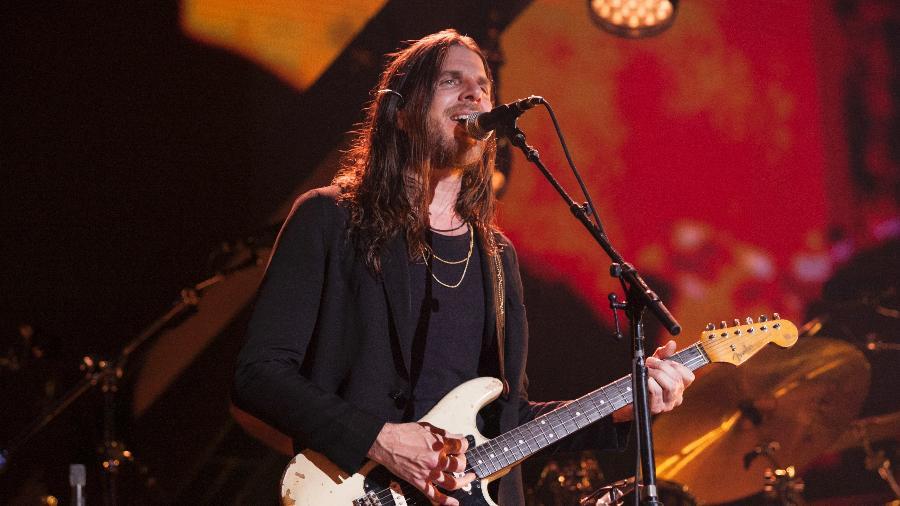"""O guitarrista Jonathan Wilson, integrante da banda de Roger Waters na turnê """"Us + Them"""" - Emerson Santos/FotoArena/Estadão Conteúdo"""