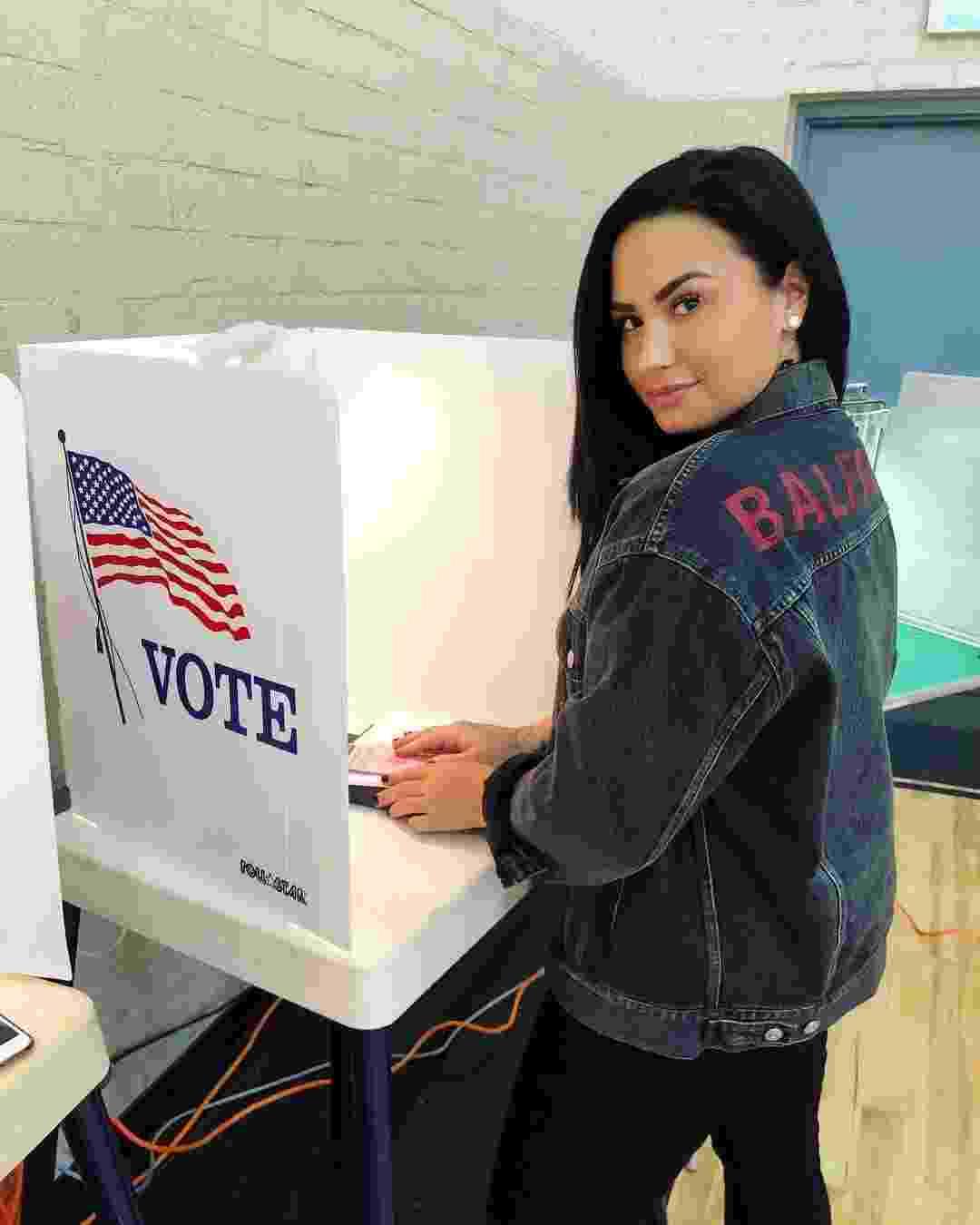 Demi Lovato postou imagem em urna de votação nos EUA - Instagram/Reprodução