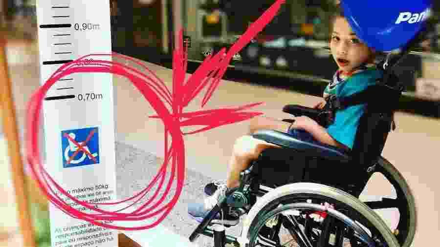 Mãe de Valentina, de 8 anos e com paralisia cerebral, protesta contra placa - Arquivo pessoal