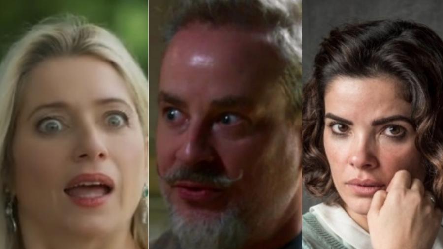 Marilda (Leticia Spiller), Eurico (Dan Stulbach) e Stela (Vanessa Gioácomo) - Colagem/UOL
