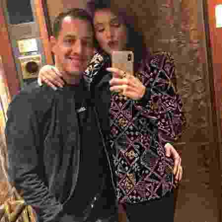 Fernanda Batista, ex-bailarina do Faustão, com o namorado, o jogador Rodriguinho - Reprodução/Instagram/fernandagbatista