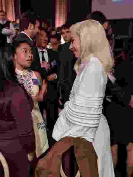 Yalitza Aparicio e Lady Gaga em evento do Oscar - Reprodução/Twitter