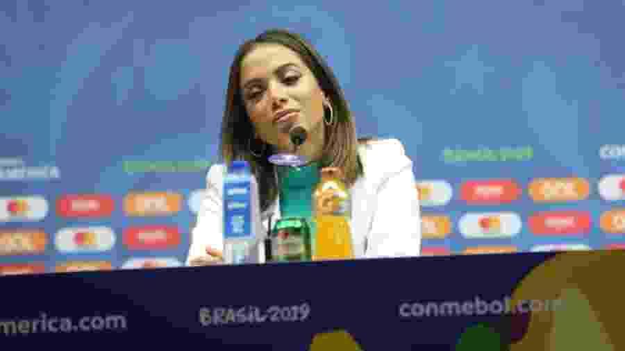 Anitta em coletiva sobre encerramento da Copa América no Maracanã - Daniel Pinheiro/AgNews
