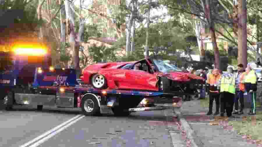 Lamborghini Diablo é destruída na Austrália - Reprodução